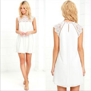 Lulu's Ivory Hey Doll Eyelet Lace Flutter Dress
